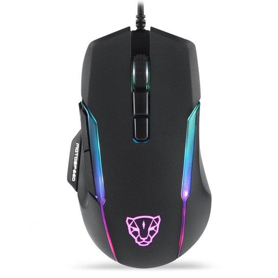 Mouse Gamer Motospeed V90 Preto 12000Dpi RGB - Preto