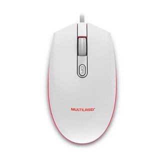 Mouse Gamer Multilaser MO299 LED 2400DPI Branco