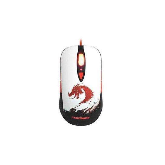 Mouse Gamer Optico Ambidestro GUILDWARS2 PN62156 - Branco+Preto