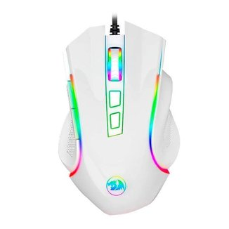 Mouse Gamer Redragon Griffin Lunar White RGB 7200DPI M607W
