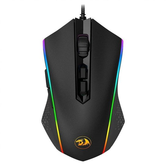 Mouse Gamer Redragon Memeanlion Chroma RGB Preto - Preto