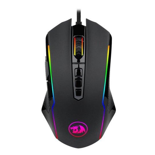 Mouse Gamer Redragon Ranger RGB Preto - Preto