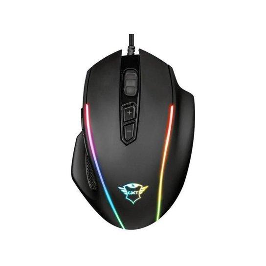 Mouse Gamer RGB Trust Óptico 10000DPI 8 Botões - Preto