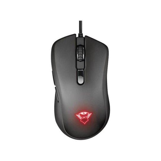 Mouse Gamer RGB Trust Óptico 6400DPI - Preto