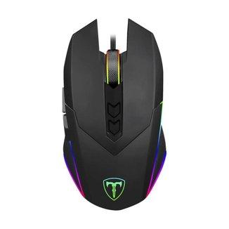 Mouse Gamer T-Dagger Lieutenant RGB Preto