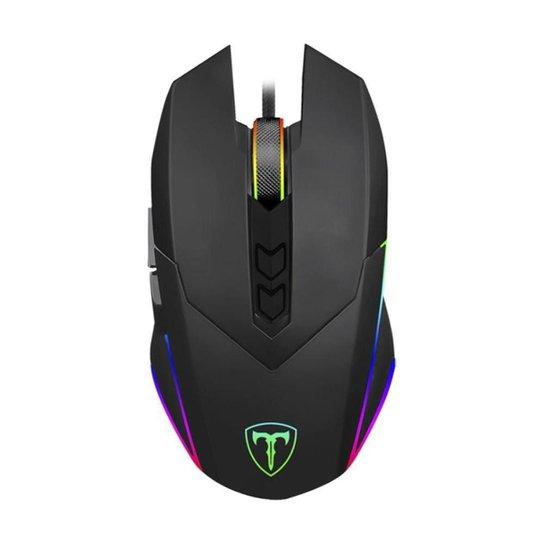 Mouse Gamer T-Dagger Lieutenant RGB Preto - Preto