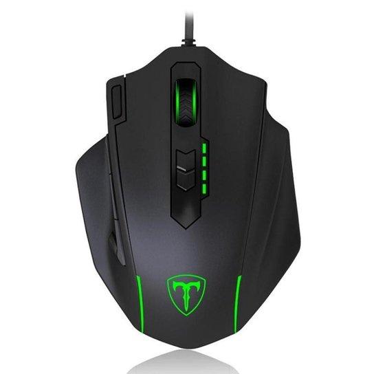 Mouse Gamer T-Dagger Major RGB Preto - Preto