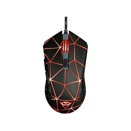 Mouse Gamer Trust Óptico 4000DPI 6 Botões - Preto