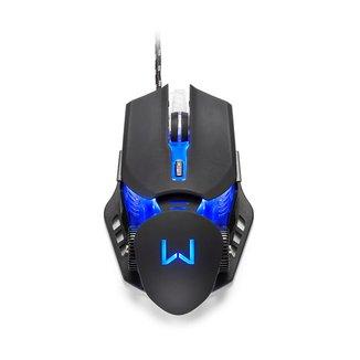 Mouse Gamer Warrior Keon 3200DPI 6 Botões Ambidestro