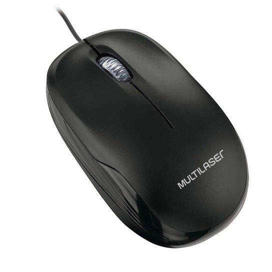 Mouse Multilaser Box Óptico Com Fio Plugeplay Usb - Preto