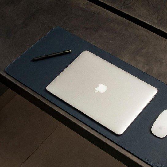 Mouse Pad Gamer Extra Grande Ecológico Tamanho 70 x 30 cm - Bullpad - Azul+Marinho