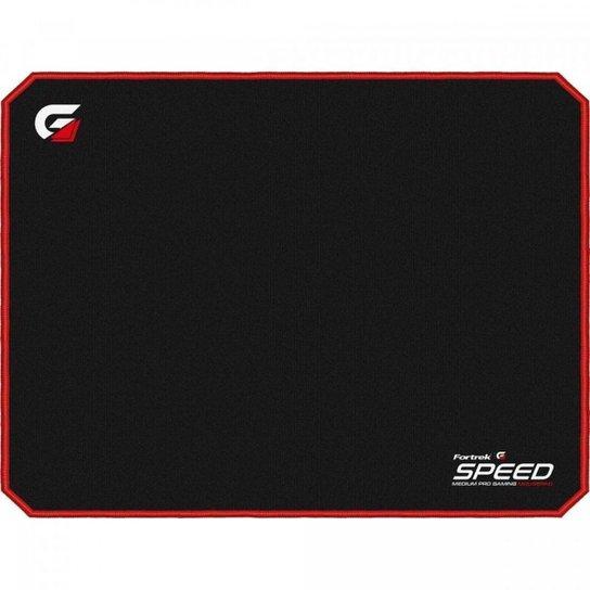 Mouse Pad Gamer Speed MPG101 VM - Fortrek - Preto+Vermelho