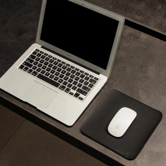 Mouse Pad Slim Em Material Sintético 20x20 Cm Bullpad - Preto