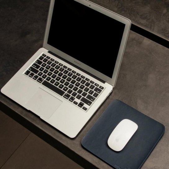 Mouse Pad Slim Em Material Sintético 20x20 Cm Bullpad - Azul