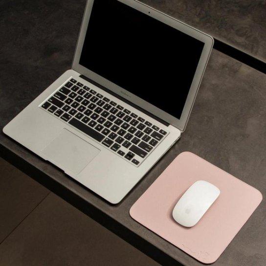 Mouse Pad Slim Em Material Sintético 20x20 Cm Bullpad - Rosa