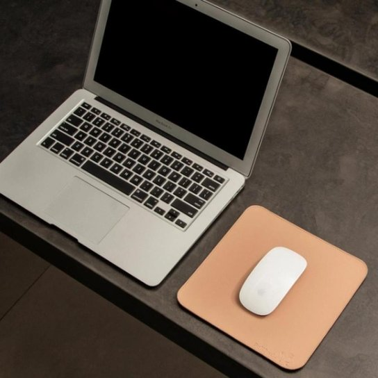 Mouse Pad Slim Em Material Sintético 20x20 Cm Bullpad - Marrom