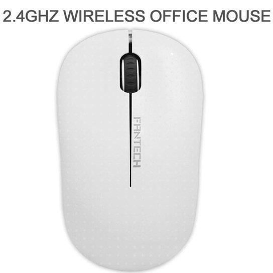 Mouse Sem Fio Fantech Forma Confortável W188 Branco 1200DPI - Branco