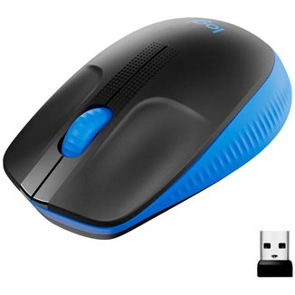 Mouse sem Fio Logitech M190 - Azul - 910-005903