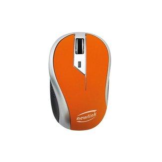 Mouse Sem Fio Wireless 1600dpi Newlink Wave Mo112 Laranja