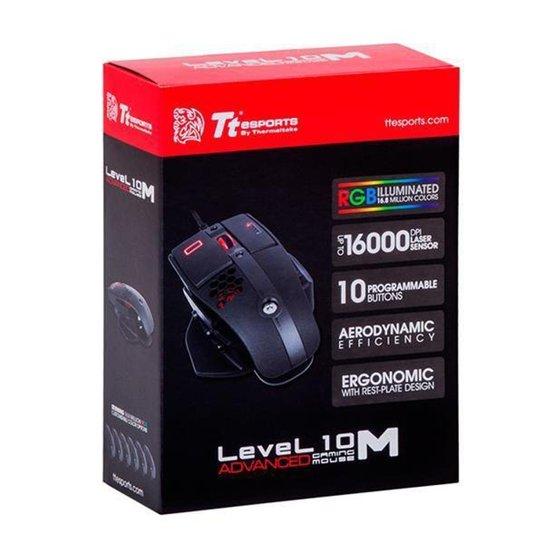 Mouse TT SPORTS Level 10M Advanced Laser MO-LMA-WDLOBK-04 - Preto