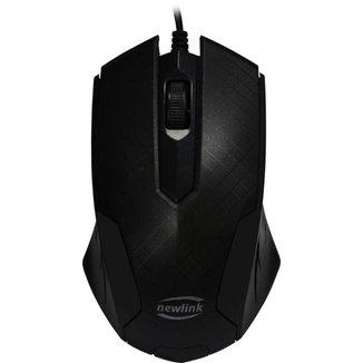 Mouse Usb 1000dpi 3 Botões Newlink Grid Mo228 Preto