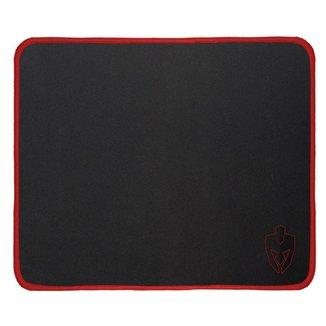 Mousepad Gamer Evolut EG403RD Médio Quadrado 450X400X3,4mm Preto/Vermelho