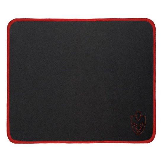 Mousepad Gamer Evolut EG403RD Médio Quadrado 450X400X3,4mm Preto/Vermelho - Preto