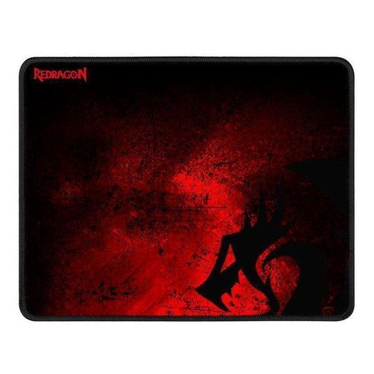 Mousepad Gamer Redragon Pisces 330x260x3mm P016 - Preto+Vermelho