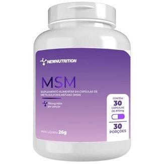 MSM 750mg - 30 cápsulas NewNutrition