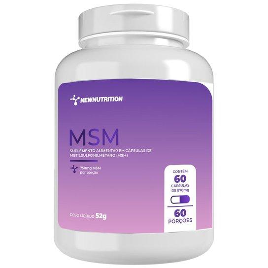 MSM 750mg - 60 cápsulas NewNutrition -