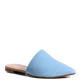 Mule Feminino Bico Fino Zariff Azul Acqua