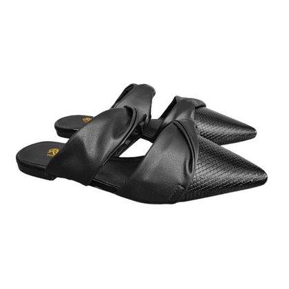Mule Mariotta Sapato Texturizado Bico Fino Feminino