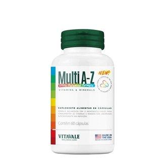 Multi A-Z Vitaminas E Minerais Vitavale 60 Cápsulas