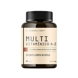 MULTI VITAMÍNICO A-Z (30 cápsulas) - Generic Labs