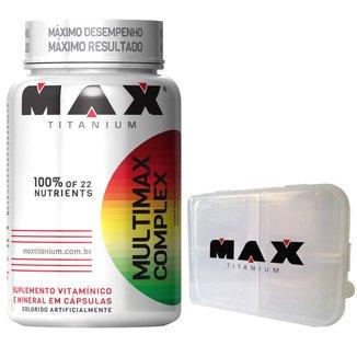 Multimax Complex 60 Cáps + Porta Cápsula - Max Titanium