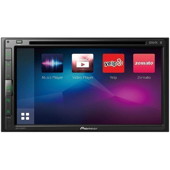 "Multimídia Receiver Pioneer AVH-Z5280TV LCD 6,8"" - Preto"