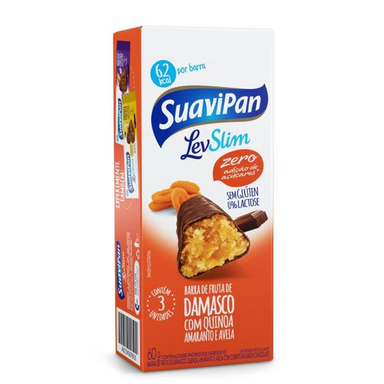 Multipack Barrinha SuaviPan Damasco Zero Açúcar C/ 3 Unid. - Laranja