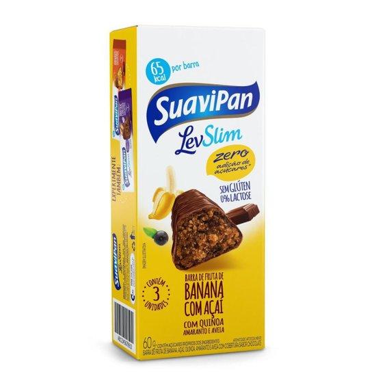 Multipack Barrinha SuaviPan De Banana Zero Açúcar C/ 3 Unid. - Amarelo