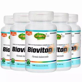 Multivitamínico Bioviton - 5x 120 Cápsulas - Unilife