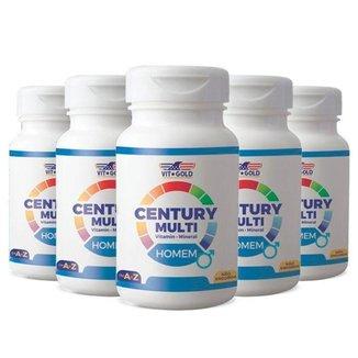 Multivitamínico Century Homem - 5 unidades de 90 Comprimidos - VitGold