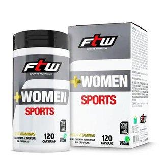 Multivitamínico Ultra Concentrado + Women Sports 120 Cáps - FTW