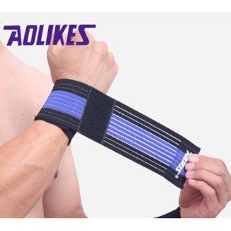 Munhequeira Aolikes 1 Peça Bandagem de Pulso para Musculação Bike e Tênis