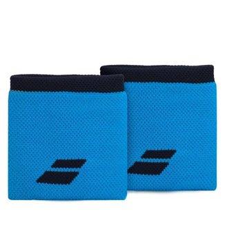 Munhequeira Babolat Logo Curta com 02 Unidades Azul e Marinho