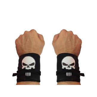 Munhequeira Tecido Crossfit Calistenia Lpo Musculação Punisher Strong Fist