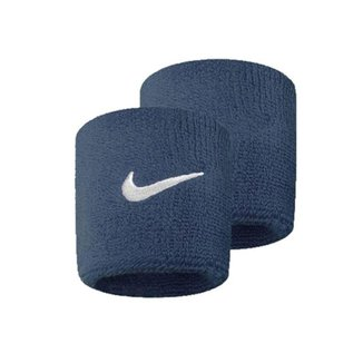 Munhequeira Wristband Swoosh Pequena Par Azul