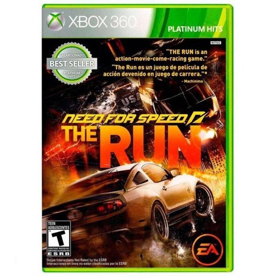 Need For Speed The Run - Xbox 360 - Incolor