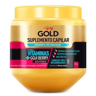Niely Gold Suplemento de Vitaminas Capilar Pró Hidratação – Máscara Capilar 800g