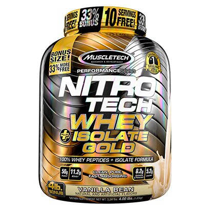 Nitrotech 100% Whey Plus Isolate Gold Muscletech 4 Lbs