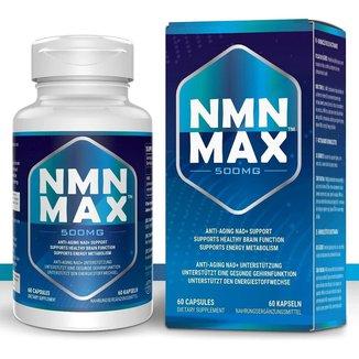 NMN Max Nicotinamide Mononucleotide - Rejuvenecedor - 500mg (60 Cápsulas)