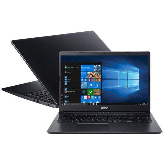 Notebook Acer Aspire 3 A315-23G-R2SE AMD Ryzen 5 SSD de 256GB - Preto
